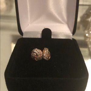 Pandora rose love knot earrings